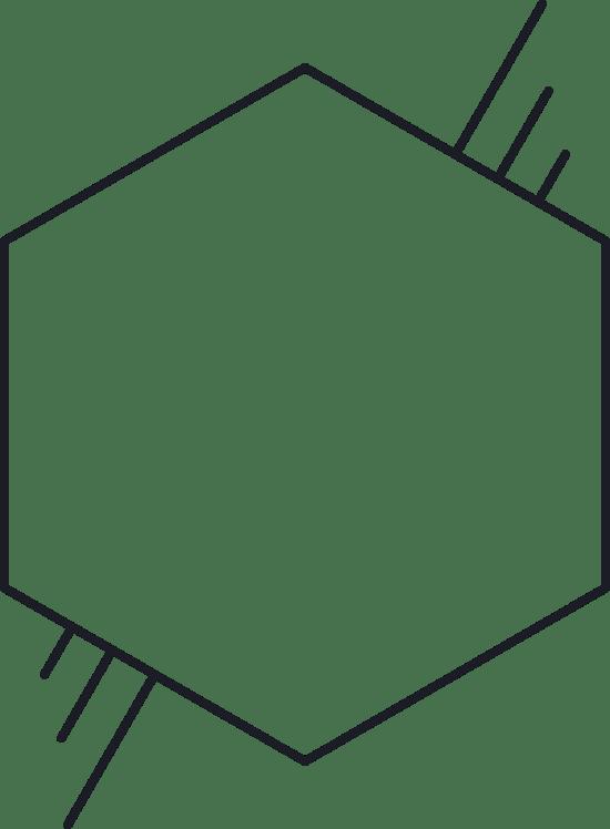 Hashed Hexagon Glyph