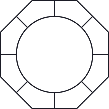 Octagon Circle Glyph