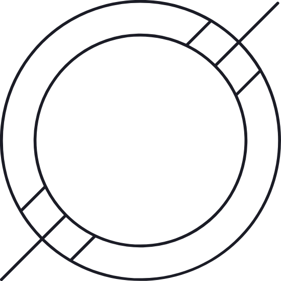 Hashed Ring Glyph