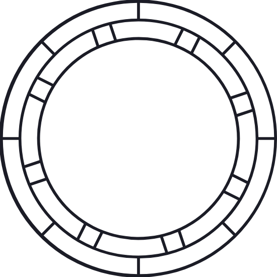 Inset Rings Glyph