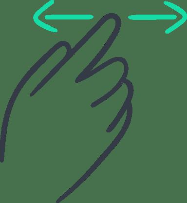 One-Finger Swipe