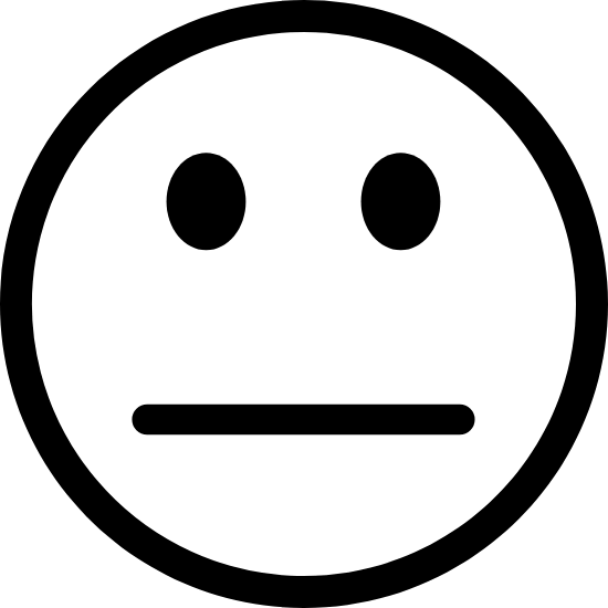 Neutral Smiley Face