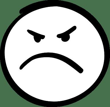 Grumpy Smiley Face