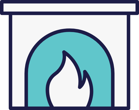 Iconic Fireplace