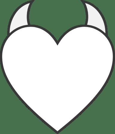 Plain Horned Heart