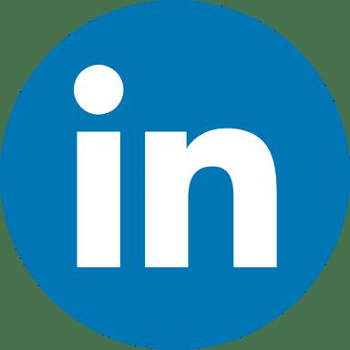 Round Blue LinkedIn