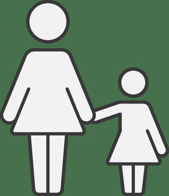 Woman & Daughter