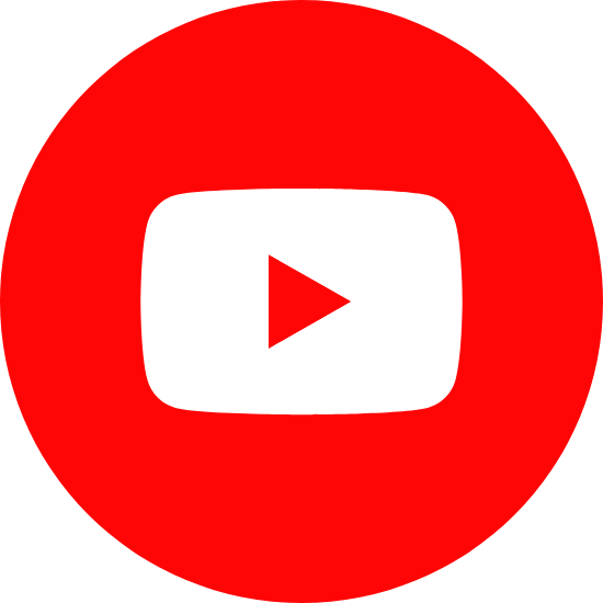 Round Red YouTube