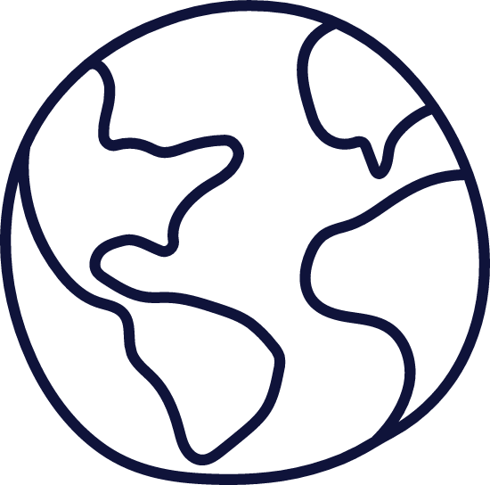 Plain Earth Globe