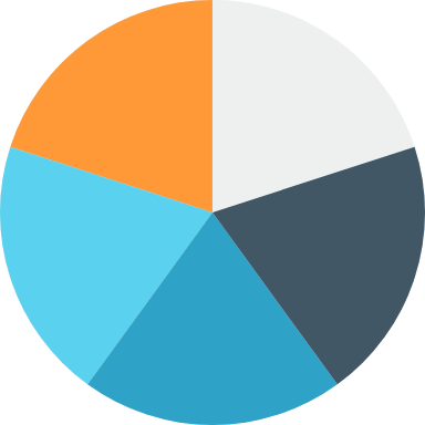 Five-Piece Pie Chart