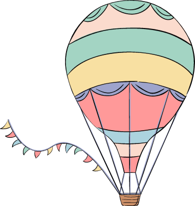 Hot Air Balloon & Bunting