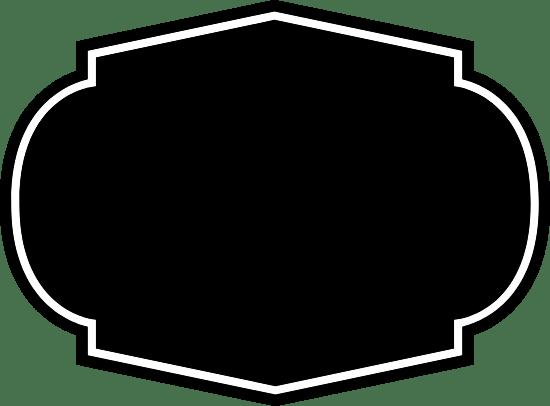 Dark Four-Point Badge