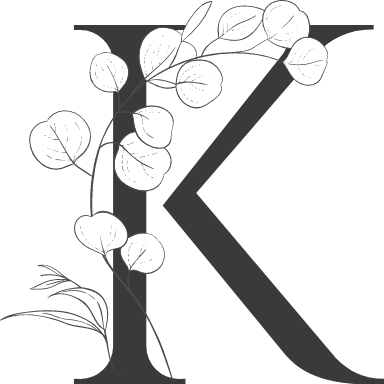 """Leafy Letter """"K"""""""