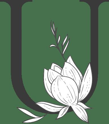 "Leafy Letter ""U"""