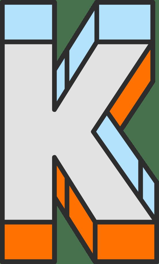 """Dimension Letter """"K"""""""