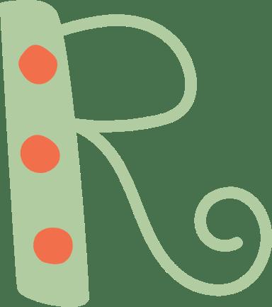 """Whimsical Letter """"R"""""""