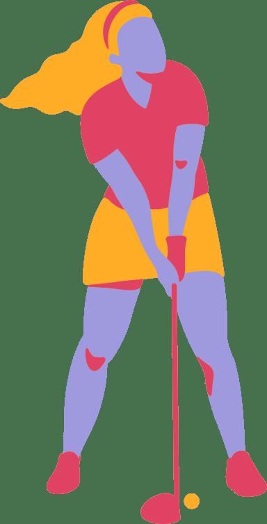 Teeing Off Golfer