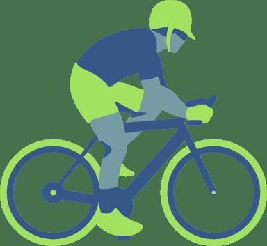 Riding Cyclist