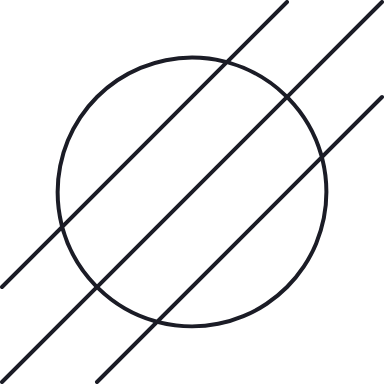 Hashed Circle Glyph