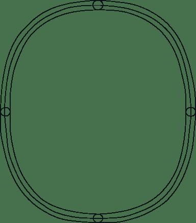 Drawn Ovoid Frame