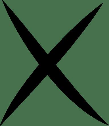 Slashed X