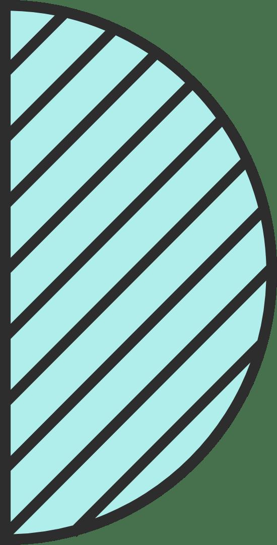 Striped Half Circle