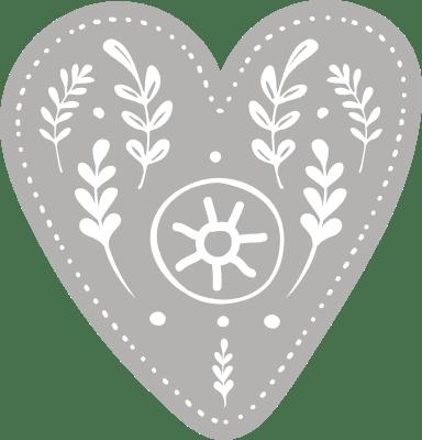 Nordic Light Heart
