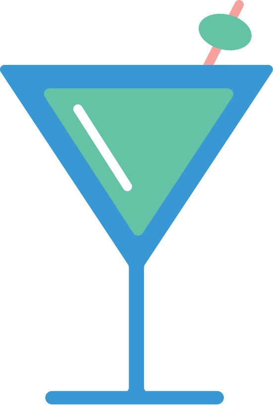 Overflowing Martini