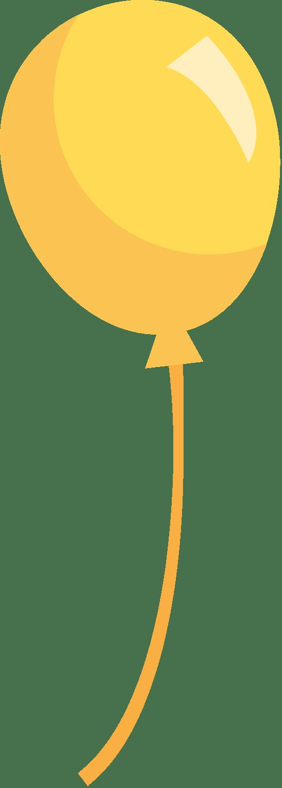 Matte Yellow Balloon