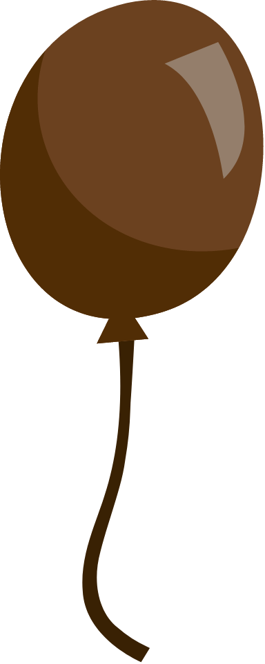 Matte Brown Balloon
