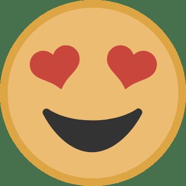 Yellow Lovestruck Face