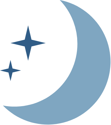 Moon & Two Stars