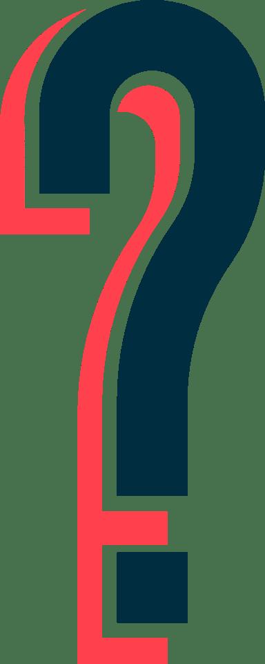 Offset Question Mark