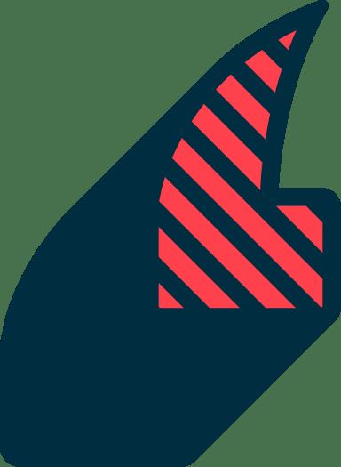 Striped Quote Mark