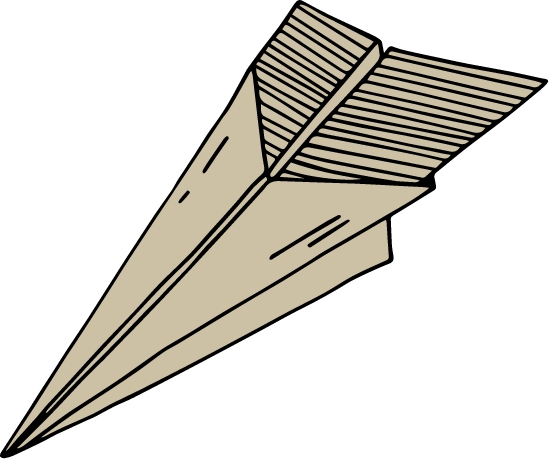 Drawn Paper Airplane
