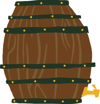 Upright Beer Barrel