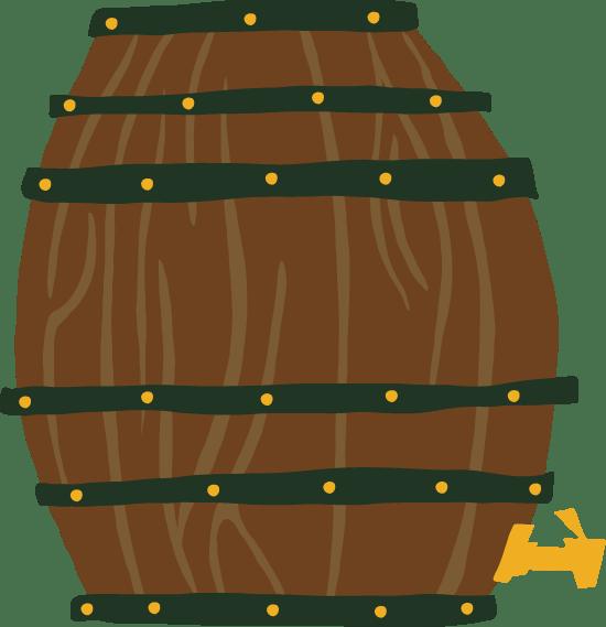 Upright Beer Barrel