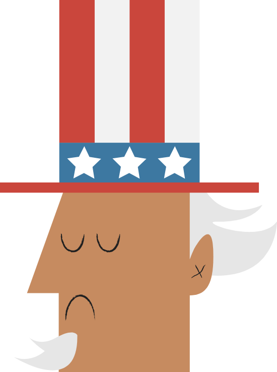 Patriotic Uncle Sam