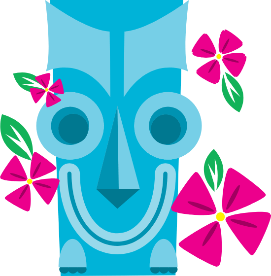 Grinning Tiki Mask