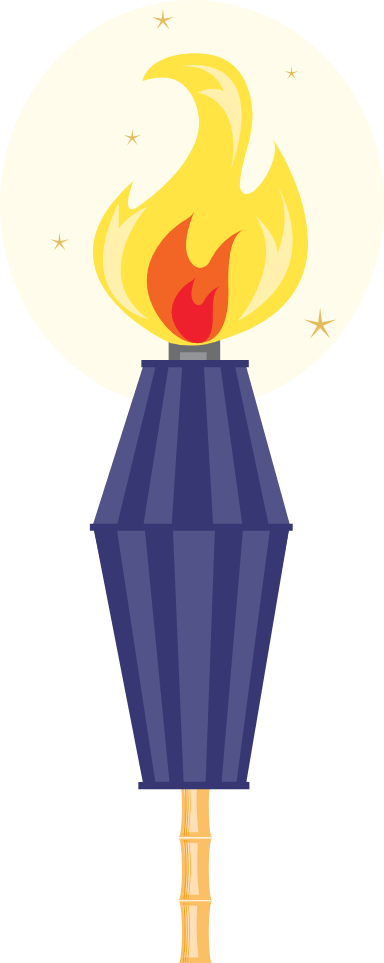 Tropical Tiki Torch