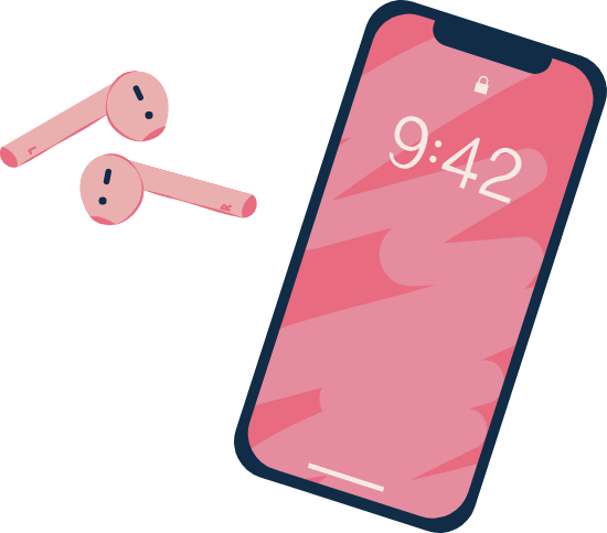 Phone & Earbuds