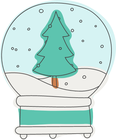 Evergreen Snow Globe