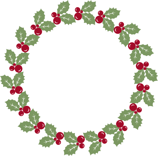 Large Holly Wreath
