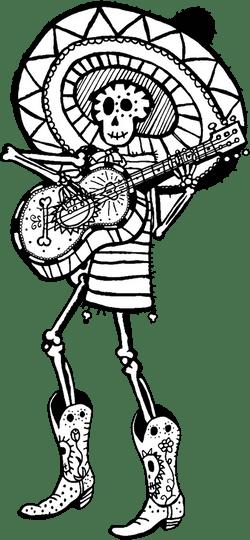 Festive Skull Musician