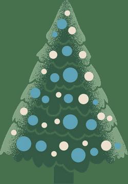 Decorated X-Mas Tree