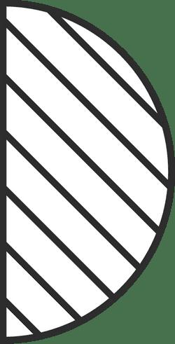 Lined Half Circle