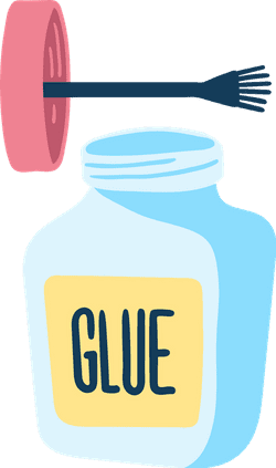 Drawn Glue Brush