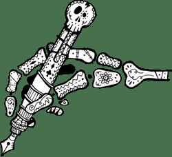 Festive Skull Pen