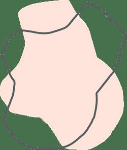 Pink Amorphic Shape