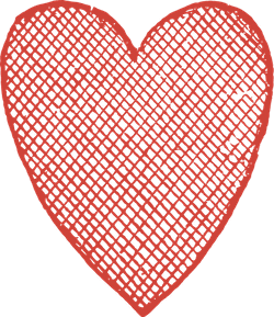 Crosshatched Heart